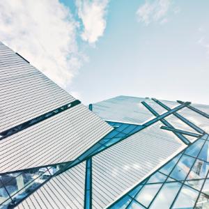 Moderne glassbygning
